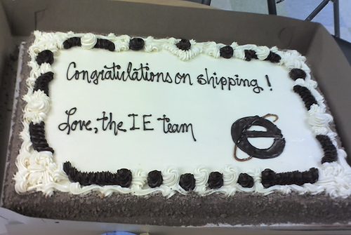 IE Firefox cake