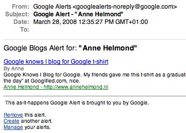 Google knows I blog for Google t-shirt