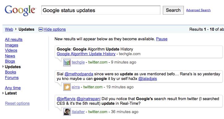 Google statussphere
