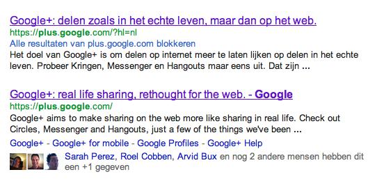 Google+ tagline