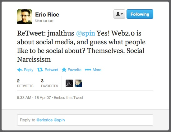 Twitter _ ericrice_ ReTweet_ jmalthus @spin Yes! ...